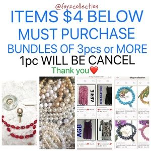$4BELOW MUST SOLD IN A BUNDLE OF 4pcs or more